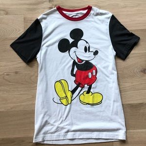 DISNEY white mucky mouse graphic short sleeve top